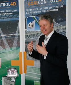 """""""Anfragen aus aller Welt"""": GoalControl-Chef Dirk Broichhausen. Foto: Euteneuer"""