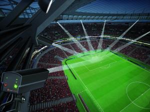 500 Bilder pro Sekunde: Sieben Kameras haben den Fußball jederzeit im Blick. Grafik: Goalcontrol